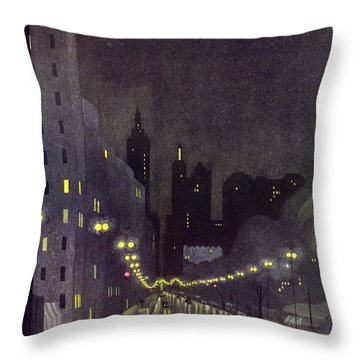 New Yorker October 29 1932 Throw Pillow