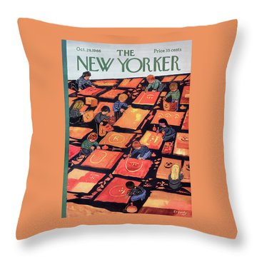 New Yorker October 29th, 1966 Throw Pillow