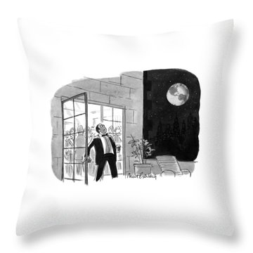 New Yorker October 29th, 1990 Throw Pillow