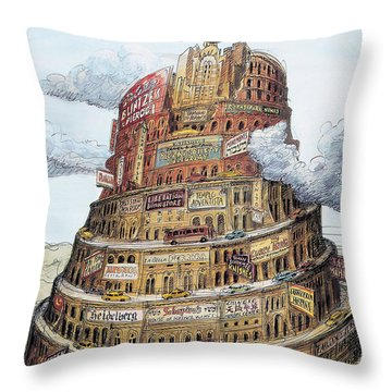New Yorker October 2nd, 1995 Throw Pillow
