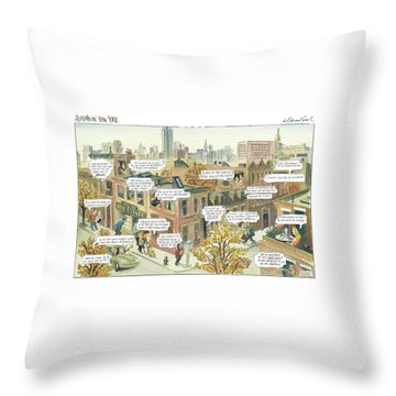 New Yorker October 2nd, 2000 Throw Pillow