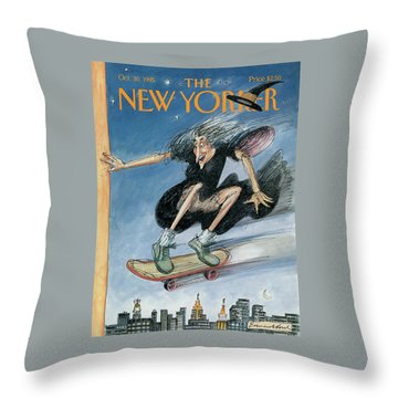 New Yorker October 30th, 1995 Throw Pillow