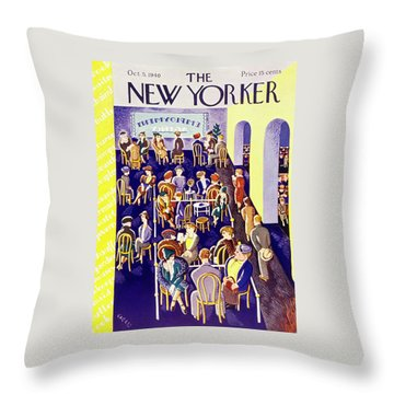 New Yorker October 5 1940 Throw Pillow