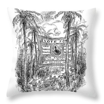 New Yorker October 7th, 1944 Throw Pillow