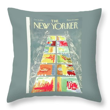 New Yorker October 8th, 1960 Throw Pillow