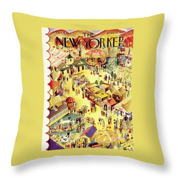 New Yorker October 9 1937 Throw Pillow