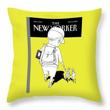 New Yorker September 10th, 2001 Throw Pillow