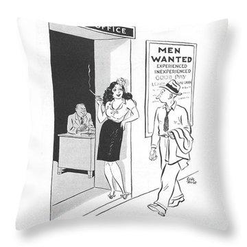 New Yorker September 11th, 1943 Throw Pillow
