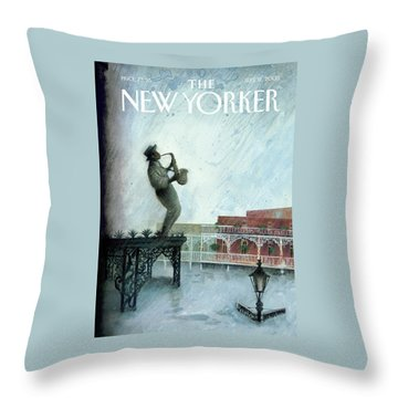 New Yorker September 12th, 2005 Throw Pillow