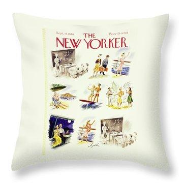 New Yorker September 14 1940 Throw Pillow