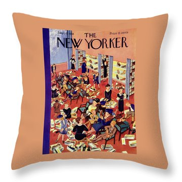 New Yorker September 17 1938 Throw Pillow