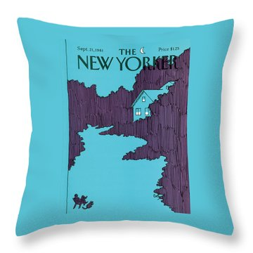 New Yorker September 21st, 1981 Throw Pillow