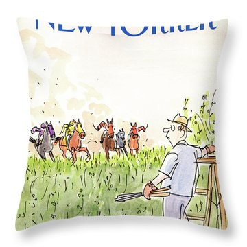 New Yorker September 21st, 1987 Throw Pillow