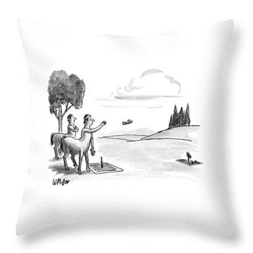 New Yorker September 24th, 1990 Throw Pillow by Warren Miller