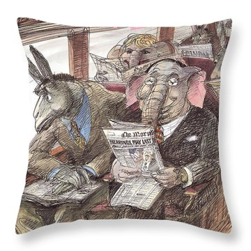 New Yorker September 28th, 1998 Throw Pillow