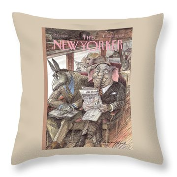 New Yorker September 28th, 1998 Throw Pillow