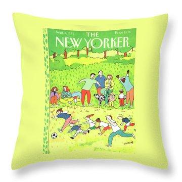 New Yorker September 2nd, 1991 Throw Pillow