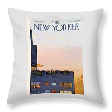New Yorker September 5th, 1970 Throw Pillow