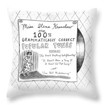 New Yorker September 5th, 1988 Throw Pillow