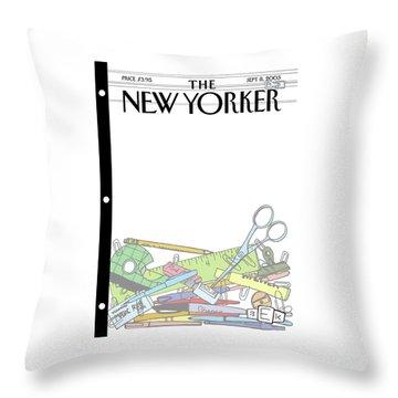 New Yorker September 8th, 2003 Throw Pillow