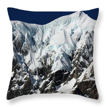 New Zealand Mountains Throw Pillow