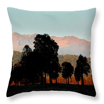 Throw Pillow featuring the photograph New Zealand Silhouette by Amanda Stadther