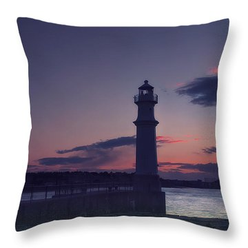 Newhaven Lighthouse Throw Pillow