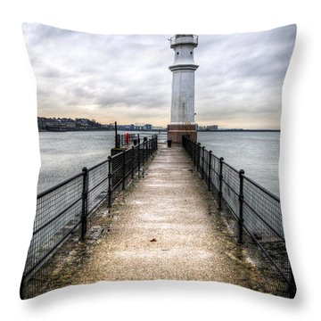Throw Pillow featuring the photograph Newhaven Lighthouse by Ross G Strachan