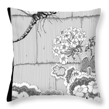 Throw Pillow featuring the digital art Newly Emerged by Carol Jacobs