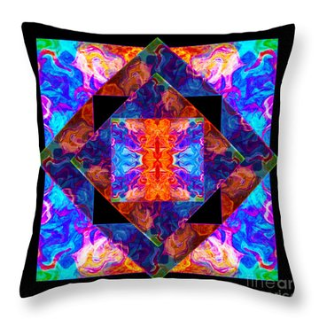 Newly Formed Bliss Mandala Artwork Throw Pillow