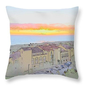 Throw Pillow featuring the photograph Newport Coast Sunset by Penny Lisowski
