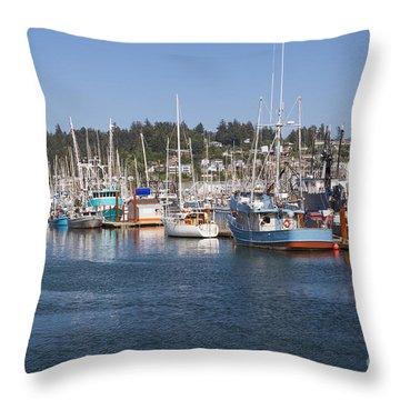 Throw Pillow featuring the photograph Newport Marina by Bryan Mullennix