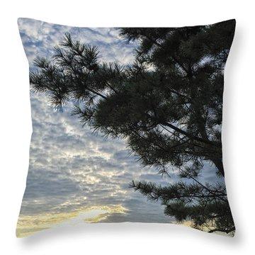 Newport Sunset Throw Pillow
