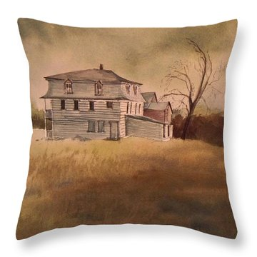 Throw Pillow featuring the painting Newport Vermont by Joy Nichols