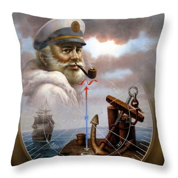 Imperishable Map Captain 7 Throw Pillow