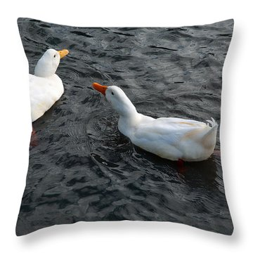 Throw Pillow featuring the photograph News Travels Fast by Lena Wilhite