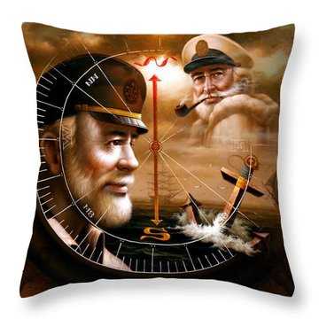 Imperishable Two Map Captain 3 Throw Pillow