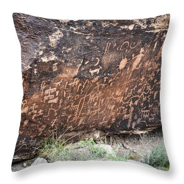 Newspaper Rock Throw Pillow