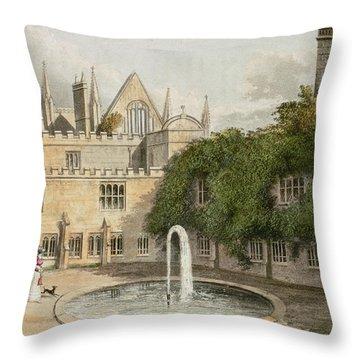Newstead Abbey, From R. Ackermanns Throw Pillow