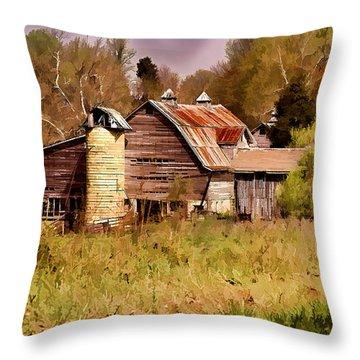 Newton Township Barn Throw Pillow