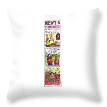 Newt's Other Stats Throw Pillow