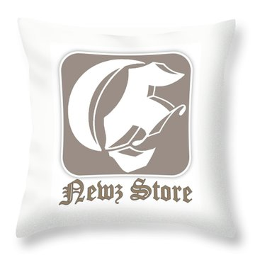 Eclipse Newspaper Store Logo Throw Pillow by Dawn Sperry