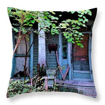 Throw Pillow featuring the photograph Next Door To Aunt Agnes by Patricia Greer