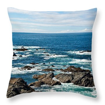 Next Stop America Throw Pillow by Jane McIlroy