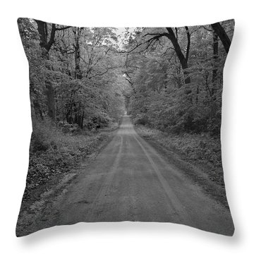 Next Stop..middle Of Nowhere Throw Pillow by John Crothers
