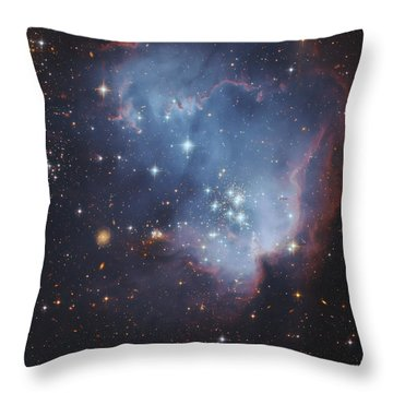 Ngc 602, Starforming Complex Throw Pillow by Robert Gendler