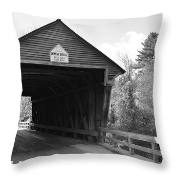 Nh Covered Bridge Throw Pillow