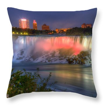 Niagara Falls Canada Sunset  Throw Pillow