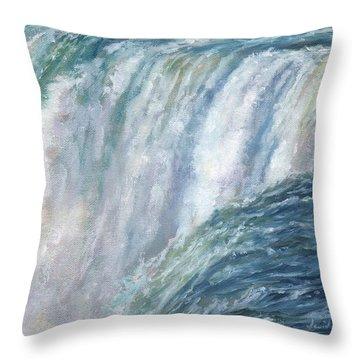 Niagara Falls Throw Pillow by David Stribbling
