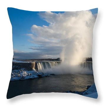 Niagara Falls Makes Its Own Weather Throw Pillow